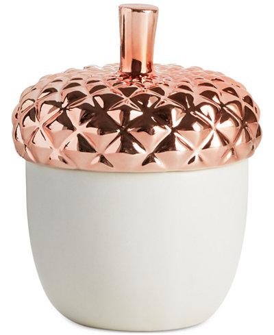 Illume Harvest Copper Leaves Ceramic Candle
