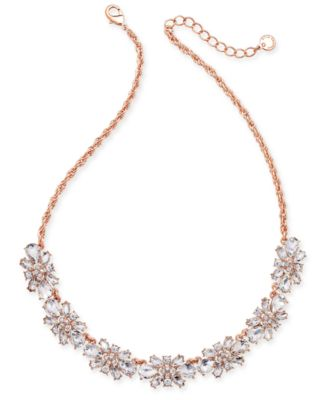 Clear & Colored Crystal Necklace, Created for Macy's