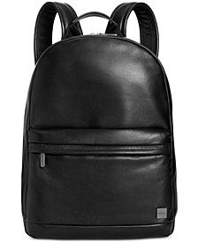 Knomo London Leather Laptop Backpack