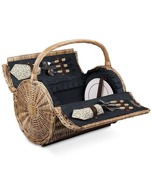Picnic Time Dahlia Barrel Picnic Basket