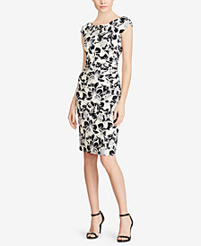 Lauren Ralph Lauren Floral-Print Jersey Dress, Regular & Petite Sizes