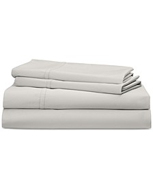 Spencer Cotton Sateen Count 4-Pc. Solid King Sheet Set
