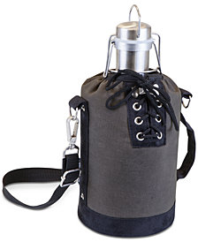 Picnic Time Insulated Growler Tote with 64-Oz. Stainless Steel Growler