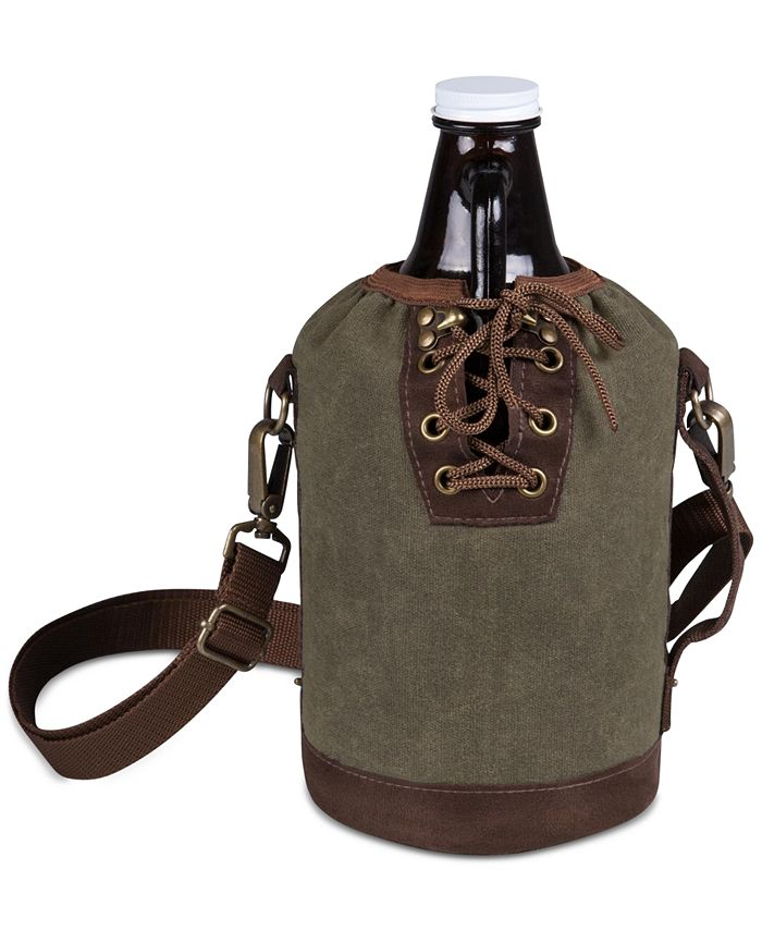 Picnic Time - Insulated Growler Tote with 64-Oz. Amber Glass Growler