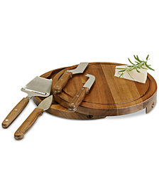 Picnic Time Acacia Circo Wood Cheese Board & Tools Set