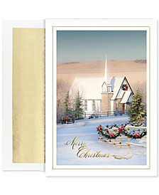 Country Church Set Of 18 Boxed Holiday Greeting Cards With Envelopes