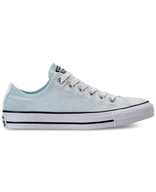 9cea689f8f75 ... Converse Women s Chuck Taylor Ox Velvet Casual Sneakers from Finish Line  ...