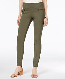 Bar III Zip-Pocket Pull-On Skinny Pants, Created for Macy's
