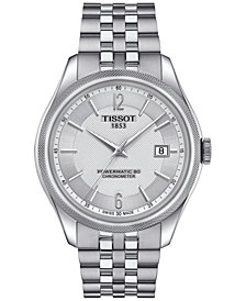 Tissot Men's Swiss Automatic Ballade Stainless Steel Bracelet Watch 39mm