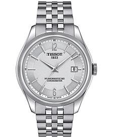 Tissot Men's Swiss Automatic Ballade Stainless Steel Bracelet Watch 39mm