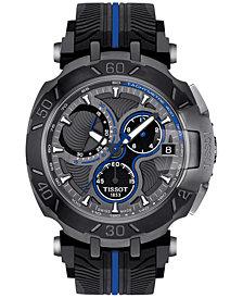 Tissot Men's Swiss Chronograph T-Race MotoGP Black Rubber Strap Watch 47x45mm - Limited Edition