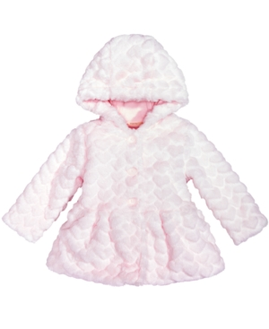 First Impressions FauxFur Hearts Jacket Baby Girls (024 months) Created for Macys