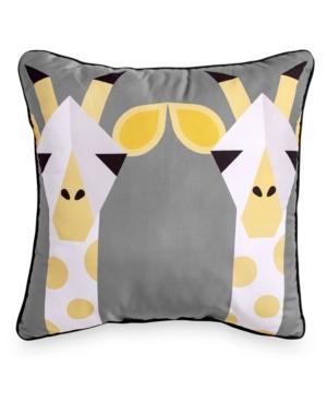 Scribble Giraffe 16 Square Decorative Pillow Bedding