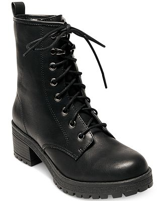 Madden Girl Eloisee Combat Booties - Boots - Shoes - Macy's