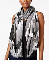 I.N.C. Zigzag Wrap & Scarf in One, Created for Macy's