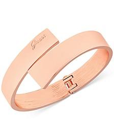Rose Gold-Tone Hinged Bangle Bracelet