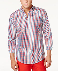 Club Room Men's Gingham Shirt, Created for Macy's