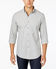 Men's Dot-Pattern Shirt with Pocket, Created for Macy's