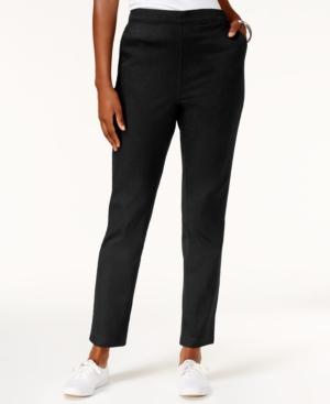 Karen Scott Pull-On Jeans,...