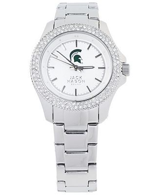 Jack Mason Women's Michigan State Spartans Glitz Sport Bracelet Watch