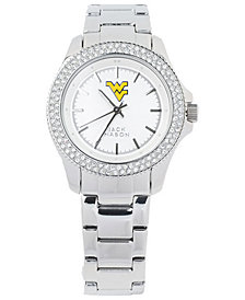 Jack Mason Women's West Virginia Mountaineers Glitz Sport Bracelet Watch