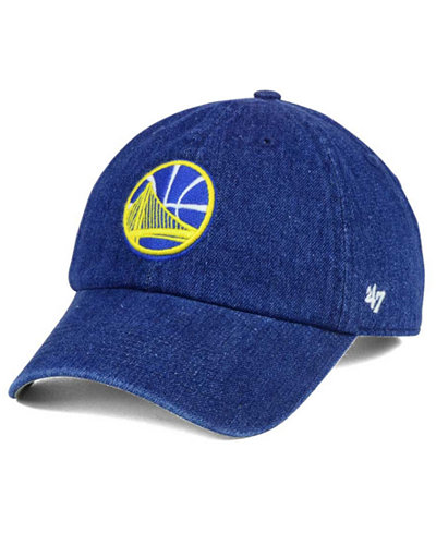 '47 Brand Golden State Warriors All Denim CLEAN UP Cap