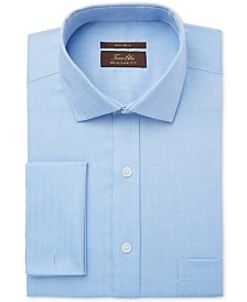 Tasso Elba Classic-Fit Non-Iron Twill French Cuff Dress Shirt, Created for Macy's
