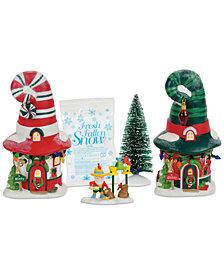 Department 56 North Pole Village Merry Lane Cottages Box Set