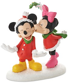 Department 56 Disney Village Mickey's Christmas Kiss