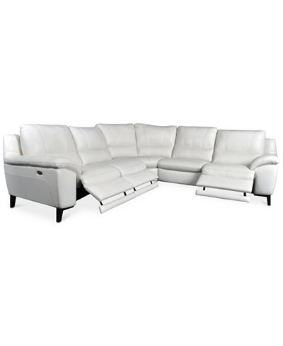 Stefana 5-Pc. Sectional Sofa with 3 Power Recliners, Created for Macy's