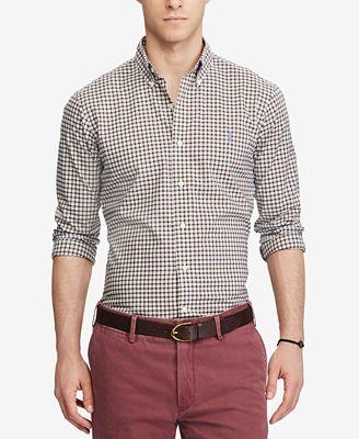 Polo Ralph Lauren Men's Slim-Fit Poplin Shirt
