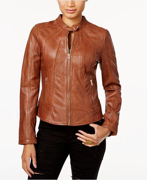633b4de38b437 GUESS Leather Moto Jacket - Coats - Women - Macy s
