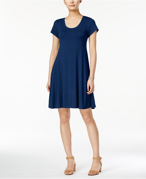 Style & Co Short-Sleeve A-Line Dress, Created for Macy's