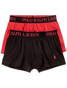 Polo Ralph Lauren Men's 2 Pack Ultra-Soft Cotton Comfort Blend Trunks