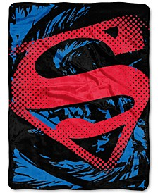 Superman Super Rip Shield Plush Micro-Raschel Throw