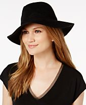 I.N.C. Faux-Suede Stitch Fedora, Created for Macy's