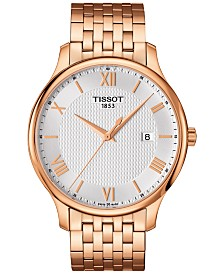 Tissot Men's Swiss Tradition Rose Gold-Tone Stainless Steel Bracelet Watch 42mm