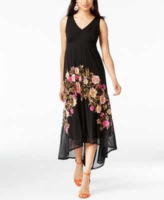 I.N.C. Petite Floral High-Low Maxi Dress, Created for Macy's