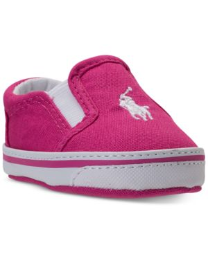 Polo Ralph Lauren Baby Girls' Balmount Layette Casual Crib Sneakers from Finish Line thumbnail