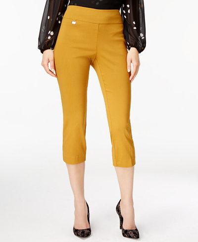Alfani Tummy-Control Pull-On Capri Pants, Created for Macy's ...