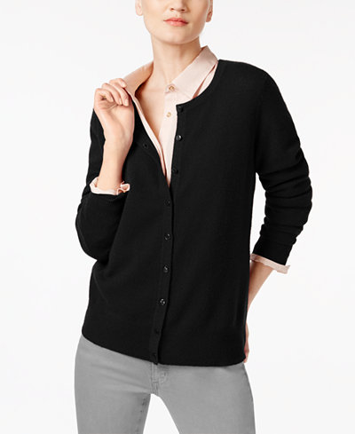 Charter Club Petite Cashmere Cardigan, Created for Macy's ...
