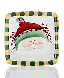 Vietri Old St. Nick Green Square Salad Plate