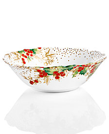222 Fifth Winter Confetti Dinnerware Collection Serving Bowl