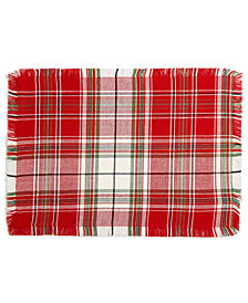 Homewear Holland Plaid Placemat, Created for Macy's