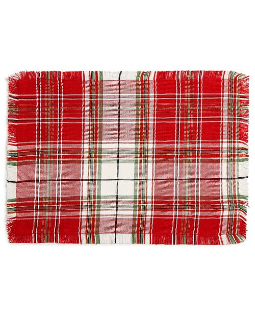 Homewear CLOSEOUT!  Holland Plaid Placemat, Created for Macy's