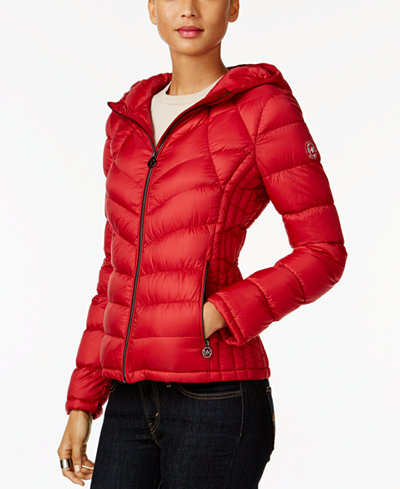 MICHAEL Michael Kors Petite Quilted Packable Down Coat - Women ...