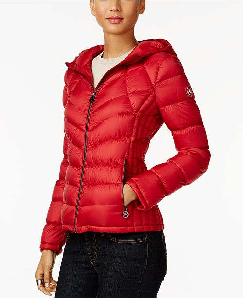 55e5af2cb41d Michael Kors Packable Down Puffer Coat