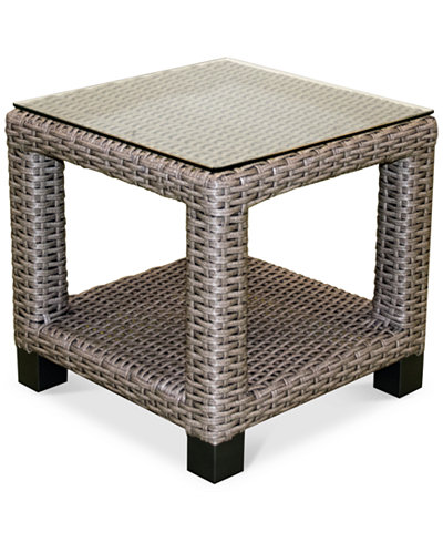 Del Mar Wicker Outdoor End Table, Created for Macy's