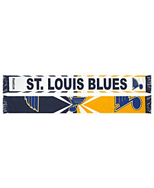 adidas St. Louis Blues Jacquard Wordmark Scarf