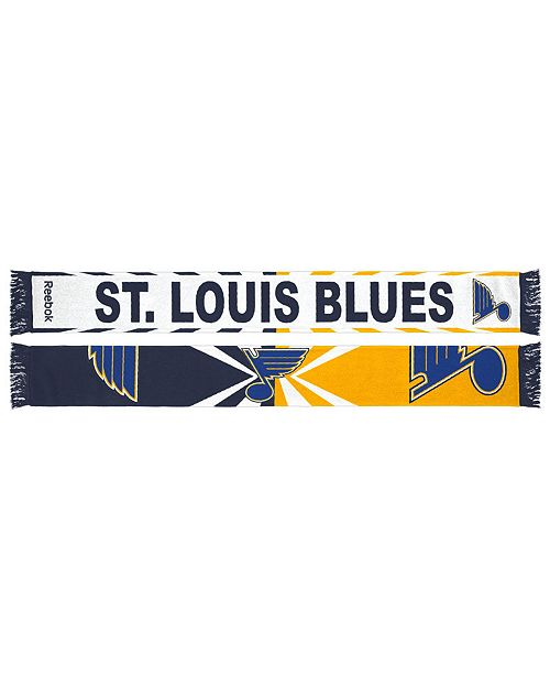 Reebok adidas St. Louis Blues Jacquard Wordmark Scarf